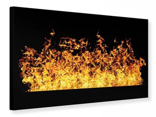 Leinwandbild Moderne Feuerwand
