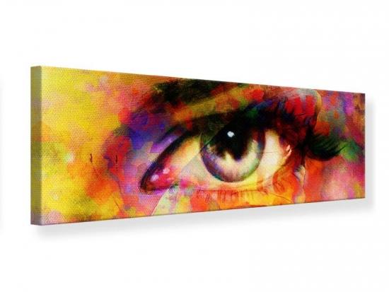 Leinwandbild Panorama Das Auge