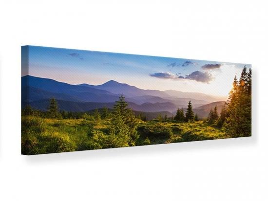 Leinwandbild Panorama Friedliche Landschaft 150 x 50 cm