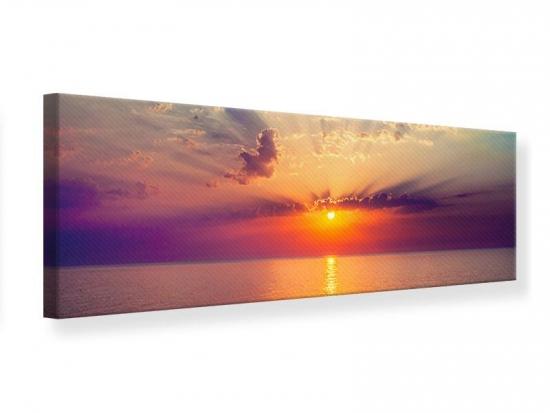 Leinwandbild Panorama Mystischer Sonnenaufgang 90 x 30 cm