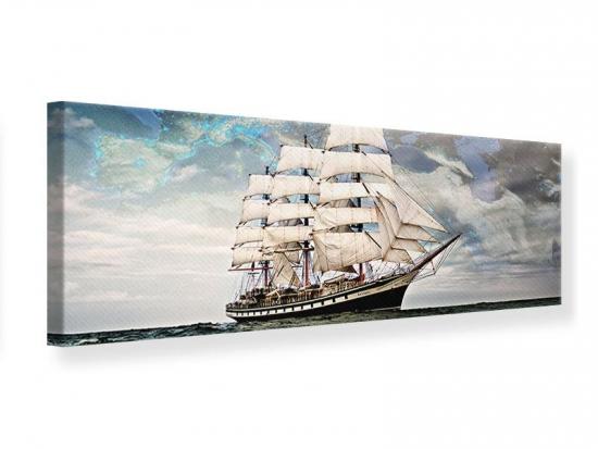 Leinwandbild Panorama Segelschiff