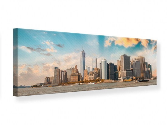 Leinwandbild Panorama Skyline New York from the other Side
