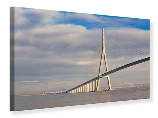 Leinwandbild Pont de Normandie 120 x 80 cm