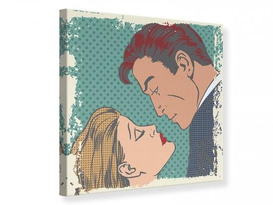 Leinwandbild Pop Art Liebe 70 x 70 cm