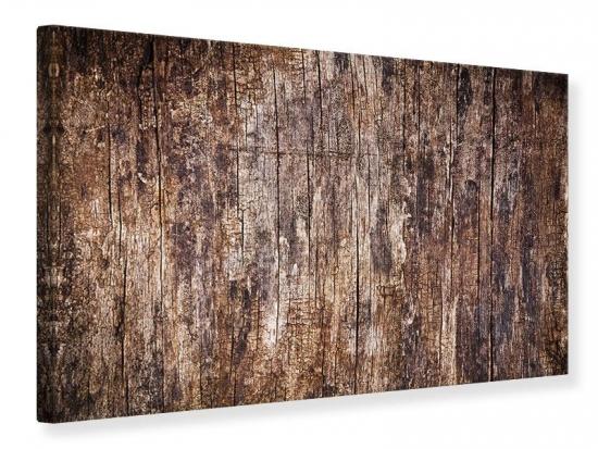 Leinwandbild Retro-Holz 75 x 50 cm