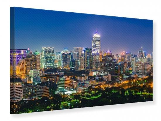 Leinwandbild Skyline One Night in Bangkok