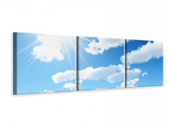 Panorama Leinwandbild 3-teilig Am Himmel 240 x 80 cm (3 x 80 x 80 cm)