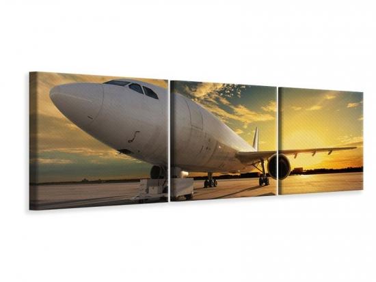 Panorama Leinwandbild 3-teilig Jet