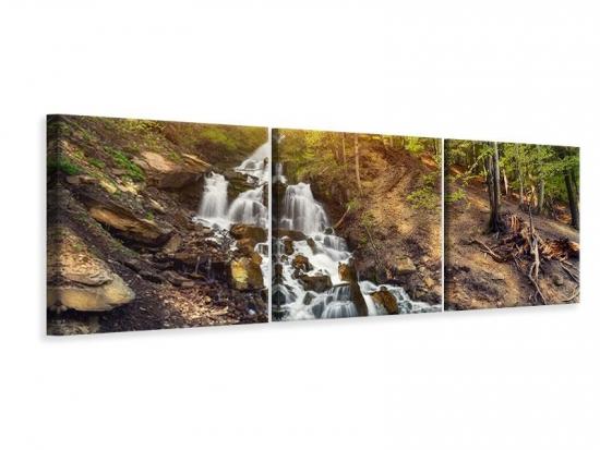 Panorama Leinwandbild 3-teilig Naturschönheit