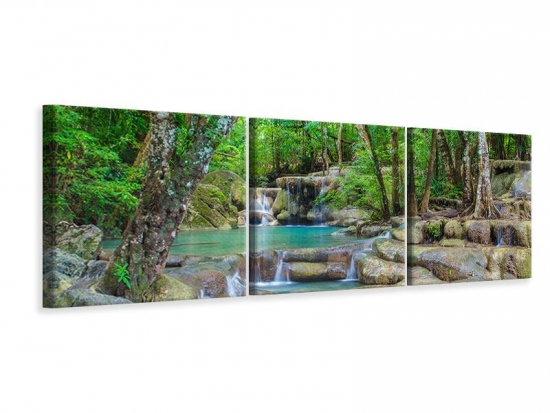 Panorama Leinwandbild 3-teilig Wasserspektakel