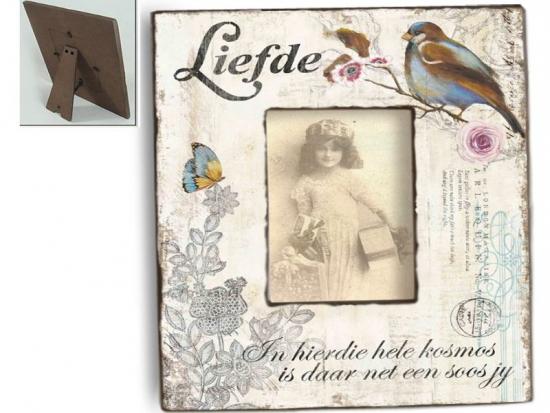 Vintage Holzfotorahmen Bird DREAM