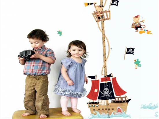 Wandtattoo das piratenschiff my for Wandtattoo piratenschiff
