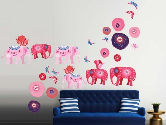 Wandtattoo Elephants
