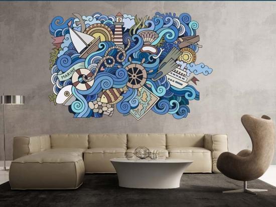 Wandtattoo Fantasy Sea