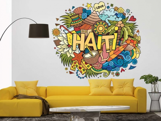 Wandtattoo Haiti