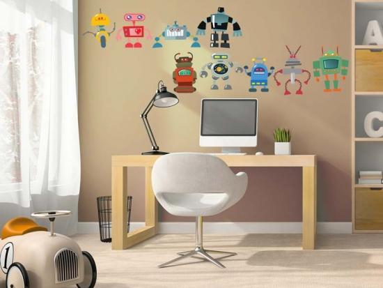 Wandtattoo Robot