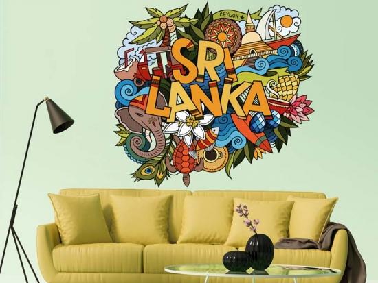 Wandtattoo Sri Lanka