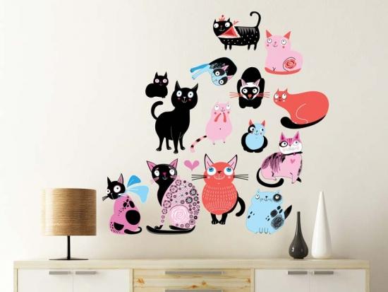Wandtattoo Sweet Cats