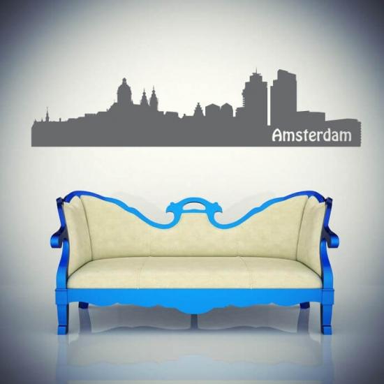 Wandtattoo Skyline Amsterdam