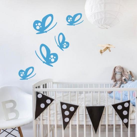Wandtattoo Schmetterlingsschwarm Kinderzimmer
