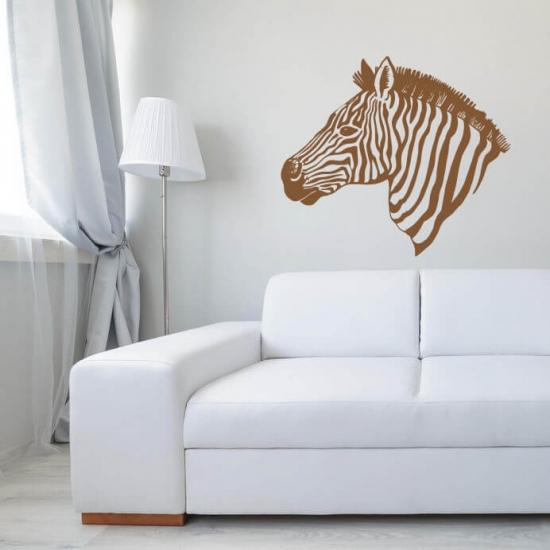 Wandtattoo Zebra Kopf