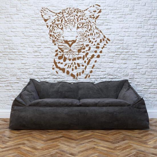 Wandtattoo Leopard als Silhouette