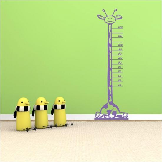 Wandtattoo Messlatte Kinderzimmer Giraffe 167cm x 52cm
