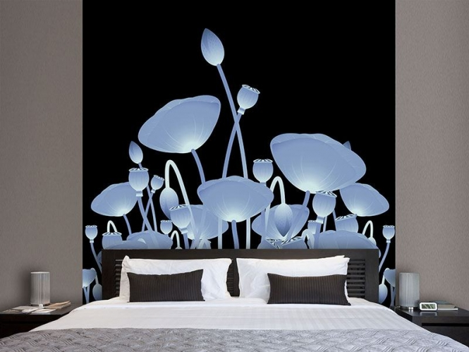 vlies fototapete futurische blumen versandkostenfrei ab 40. Black Bedroom Furniture Sets. Home Design Ideas