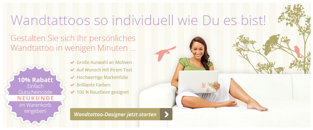 wandtattoos kaufen und kostenlos selbst gestalten im onlinedesigner. Black Bedroom Furniture Sets. Home Design Ideas